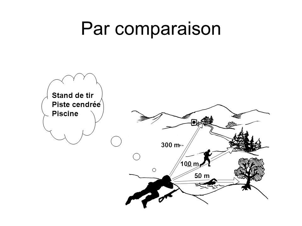 Par comparaison Stand de tir Piste cendrée Piscine 300 m 100 m 50 m