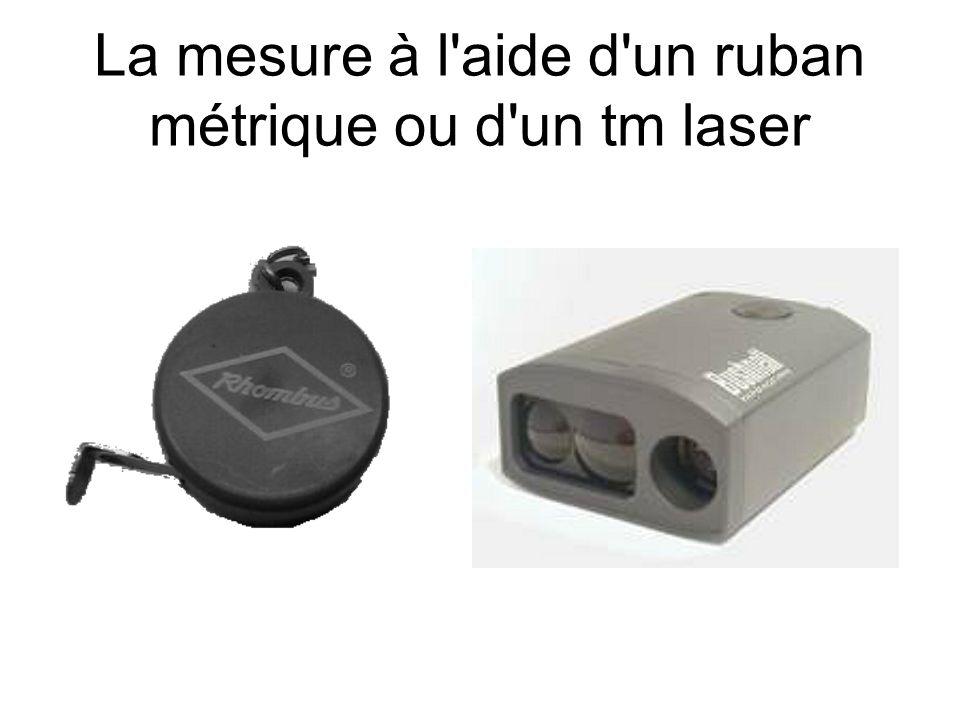 La mesure à l aide d un ruban métrique ou d un tm laser