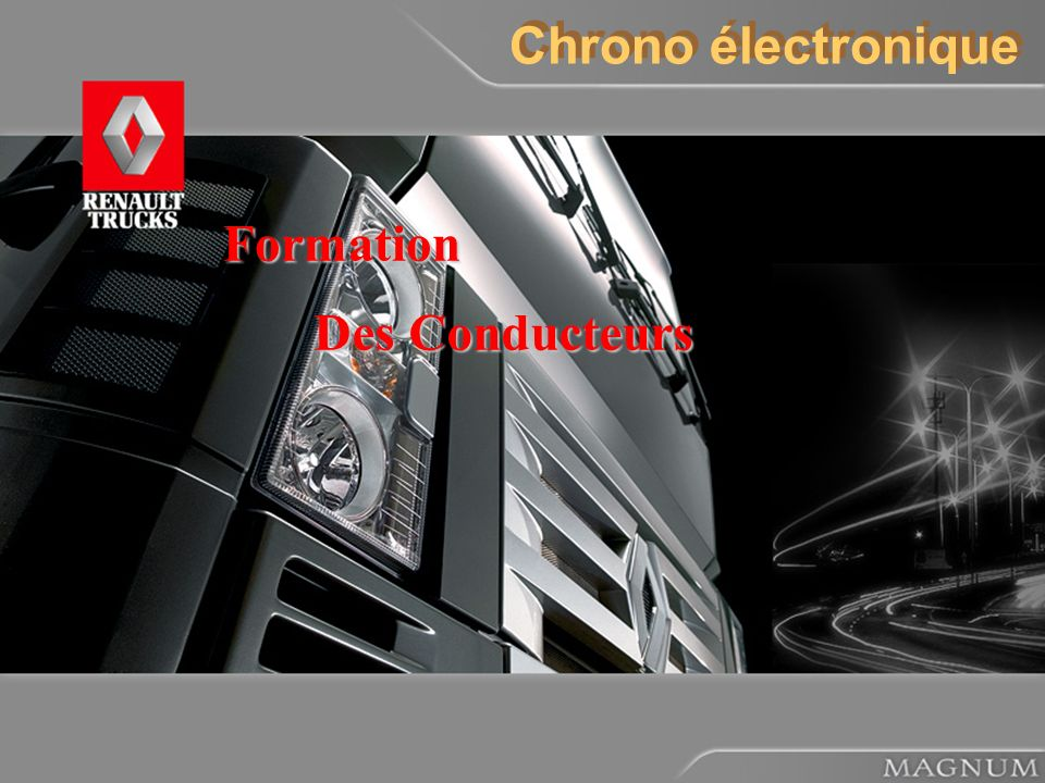 Chrono électronique Formation Des Conducteurs