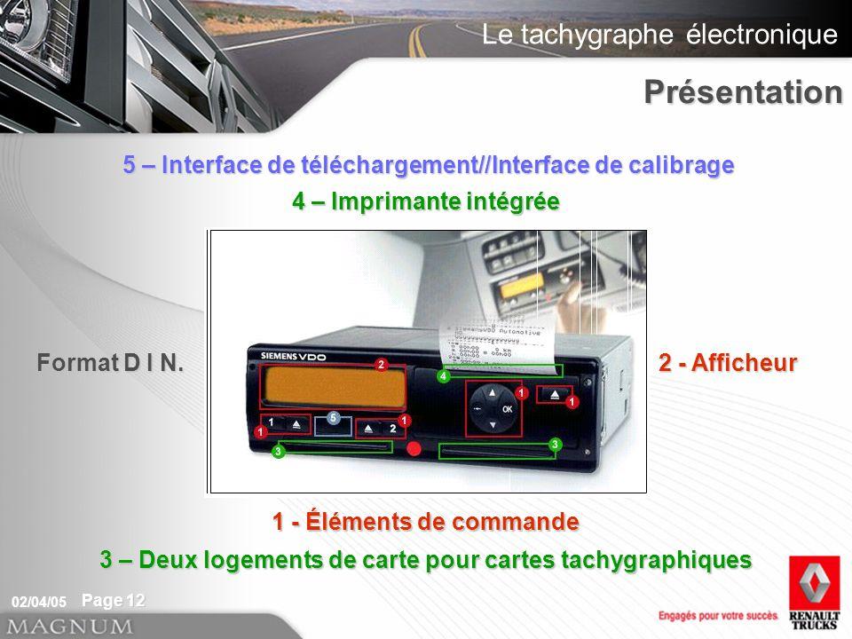 Présentation 5 – Interface de téléchargement//Interface de calibrage