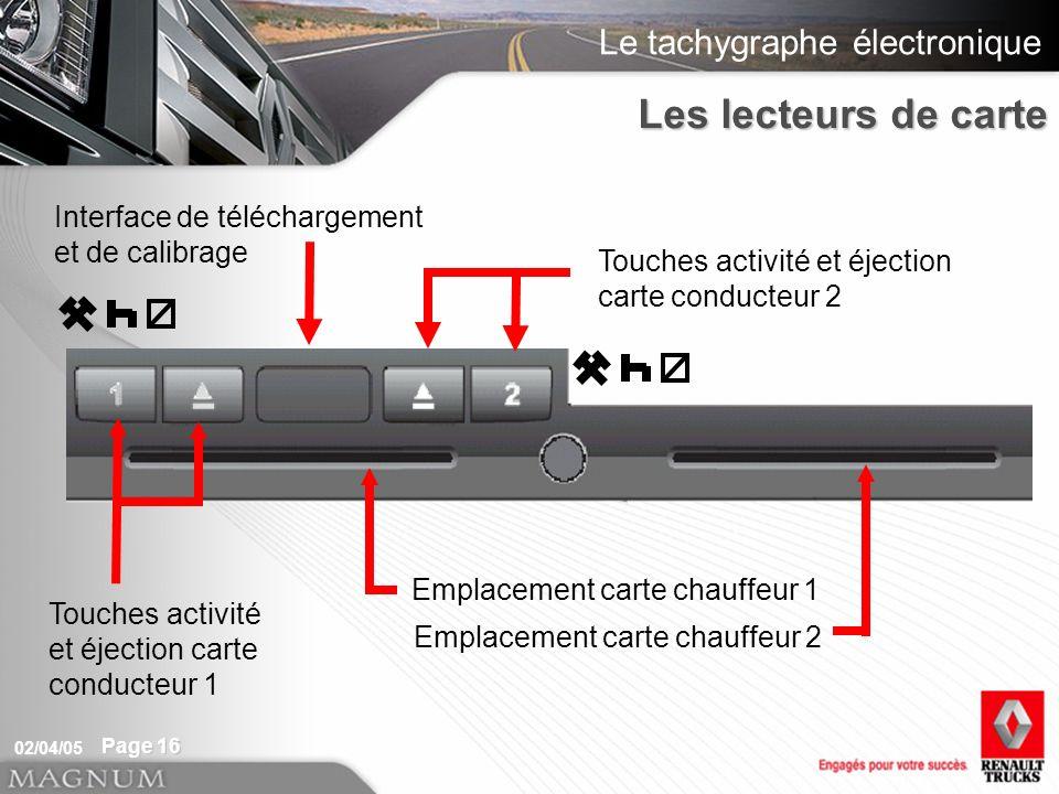 Les lecteurs de carte Interface de téléchargement et de calibrage