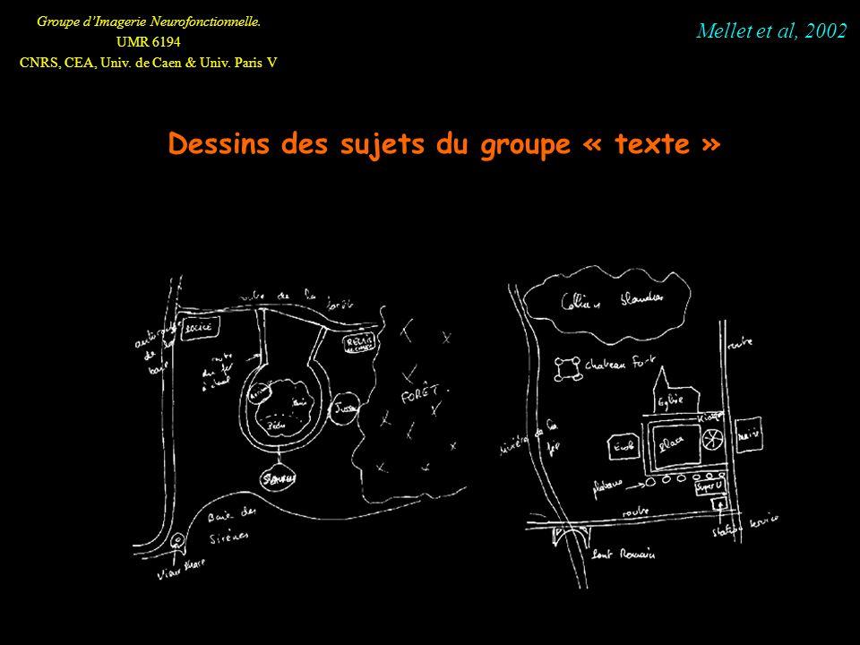 Dessins des sujets du groupe « texte »