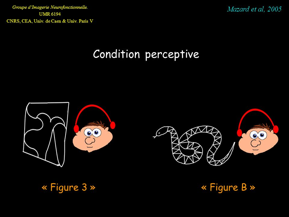 Mazard et al, 2005 Condition perceptive « Figure 3 » « Figure B »