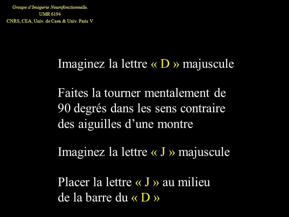 Imaginez la lettre « D » majuscule