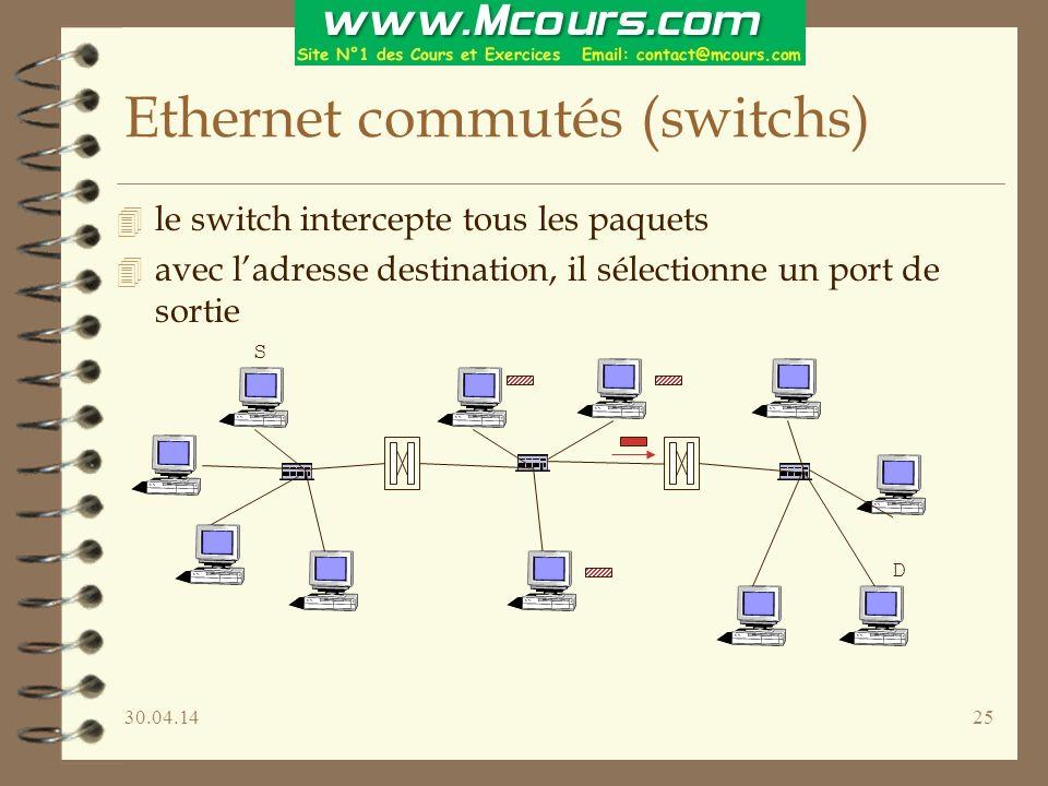 Ethernet commutés (switchs)