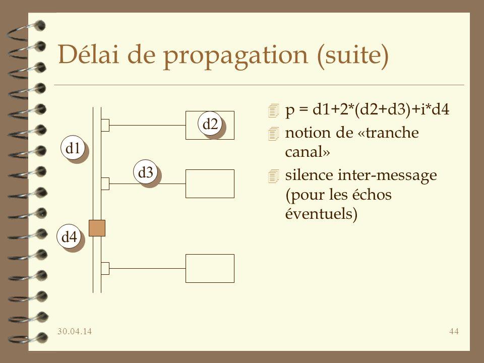 Délai de propagation (suite)