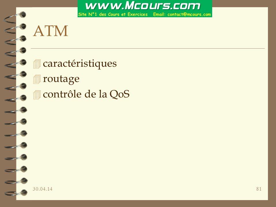 ATM caractéristiques routage contrôle de la QoS 30.03.17