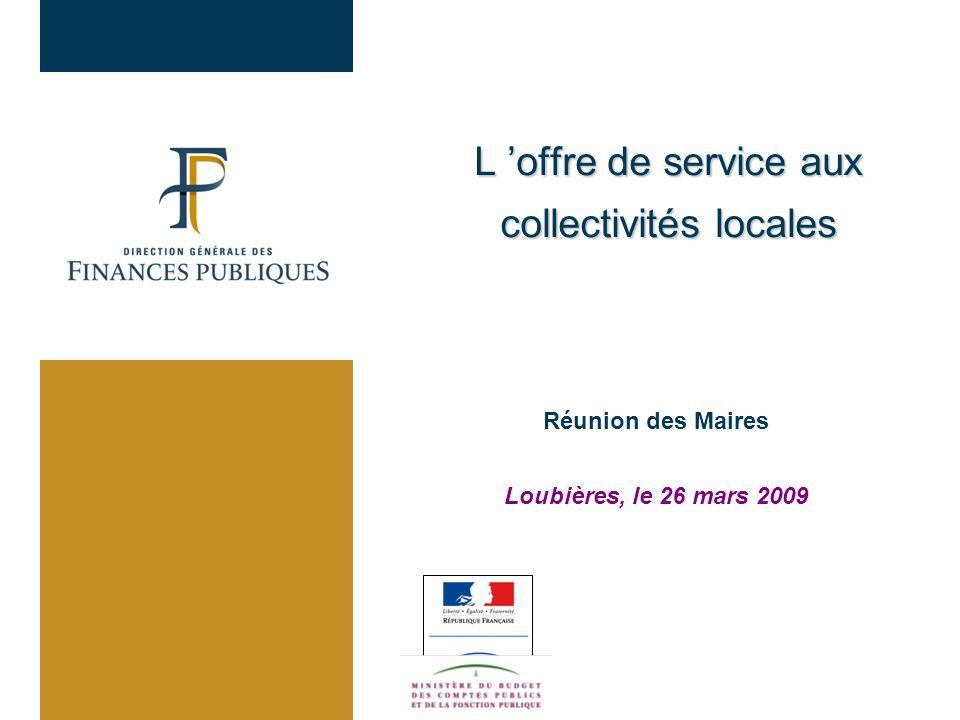 L 'offre de service aux collectivités locales