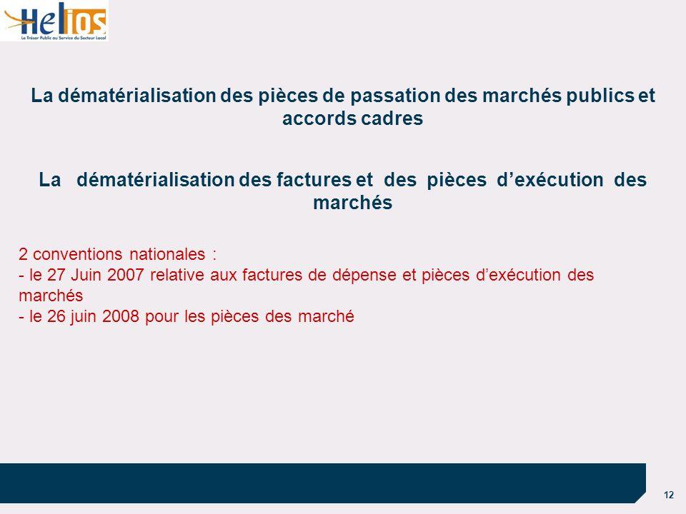 30/03/2017 La dématérialisation des pièces de passation des marchés publics et accords cadres.