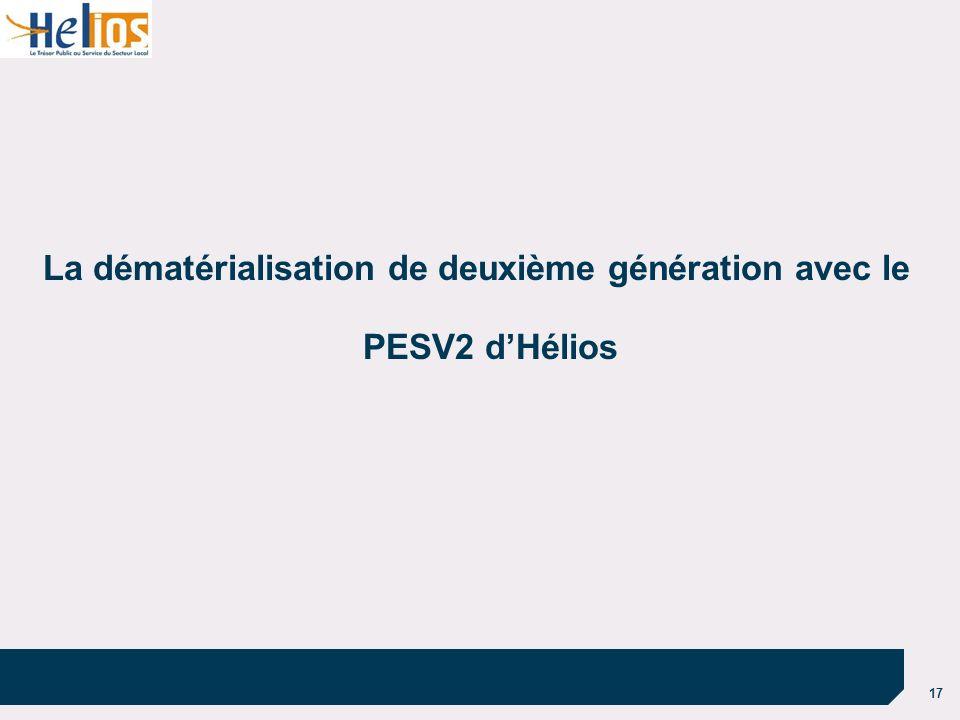 La dématérialisation de deuxième génération avec le PESV2 d'Hélios