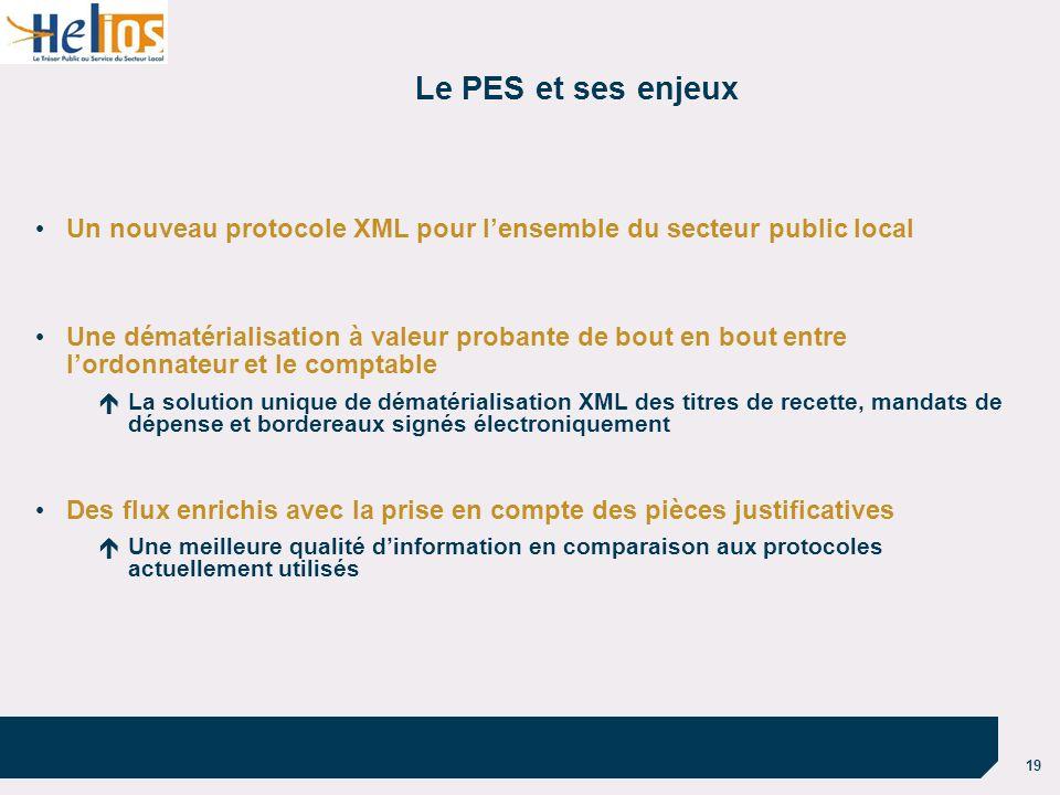 Le PES et ses enjeux Un nouveau protocole XML pour l'ensemble du secteur public local.
