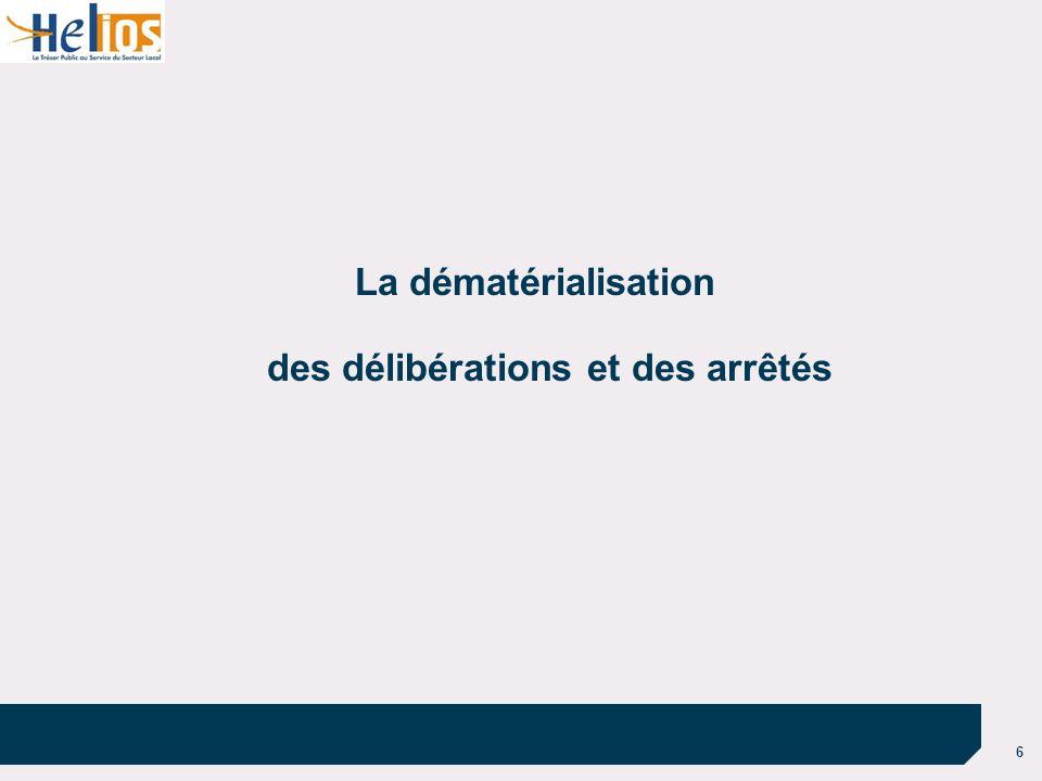 La dématérialisation des délibérations et des arrêtés