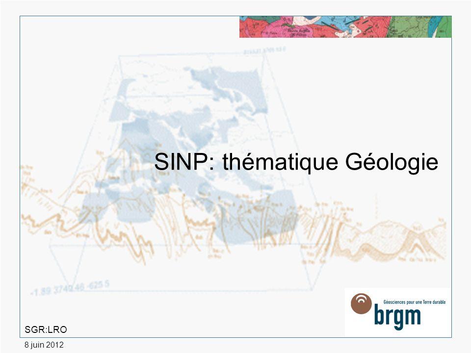 SINP: thématique Géologie