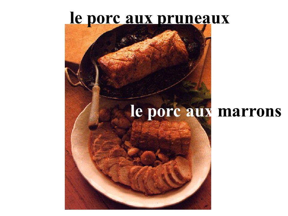 le porc aux pruneaux le porc aux marrons