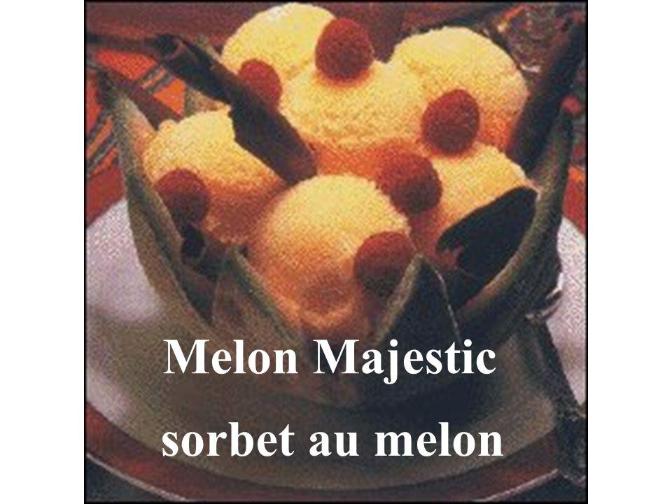 Melon Majestic sorbet au melon