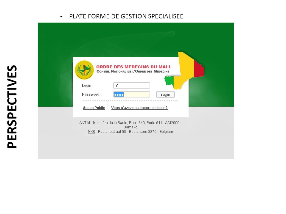 PLATE FORME DE GESTION SPECIALISEE