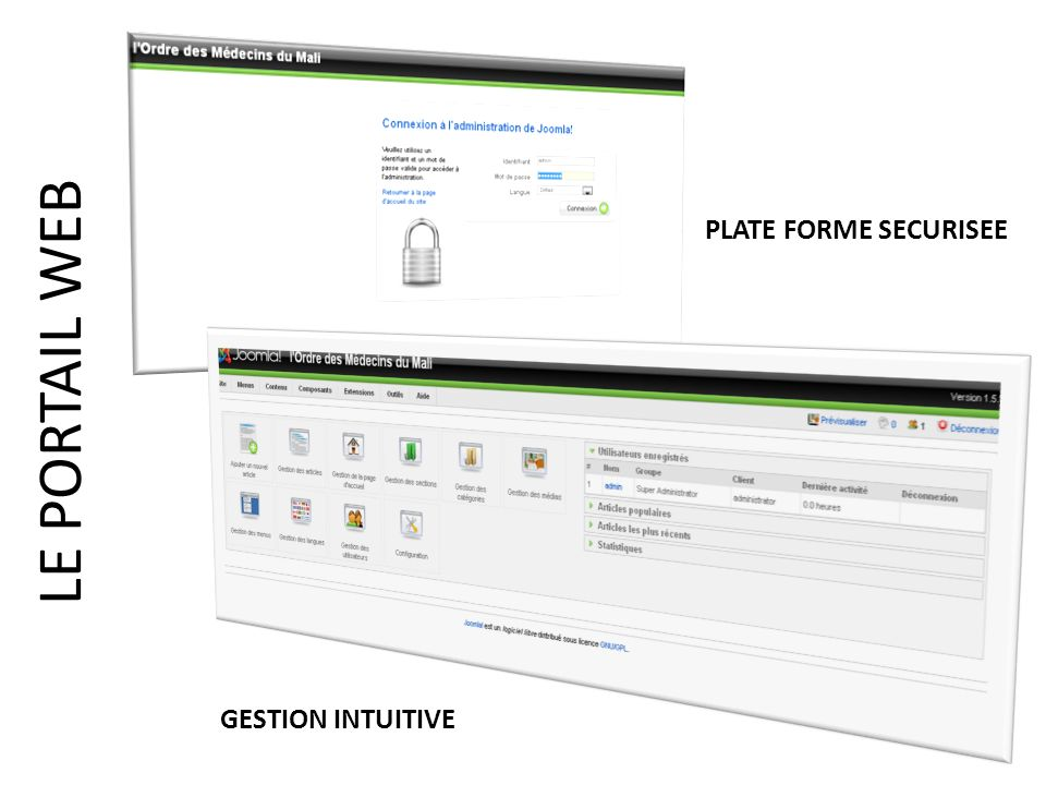 PLATE FORME SECURISEE LE PORTAIL WEB GESTION INTUITIVE