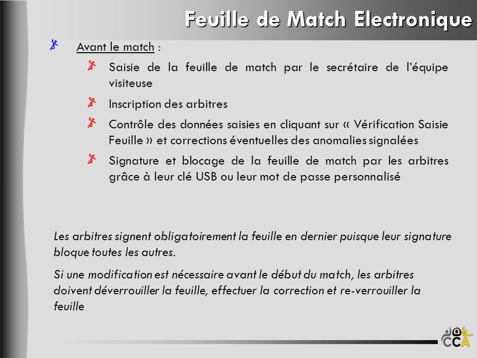 Feuille de Match Electronique