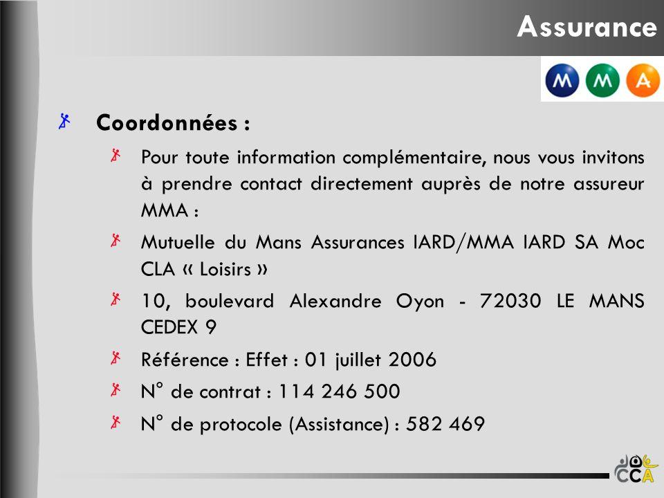 Assurance Coordonnées :