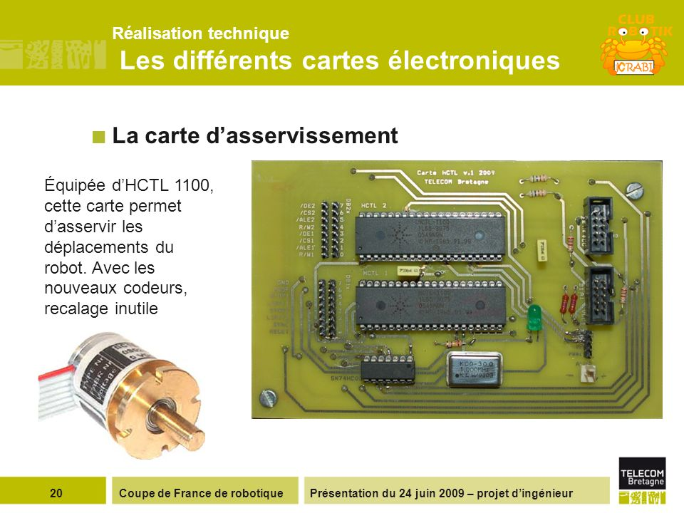 Réalisation technique Les différents cartes électroniques