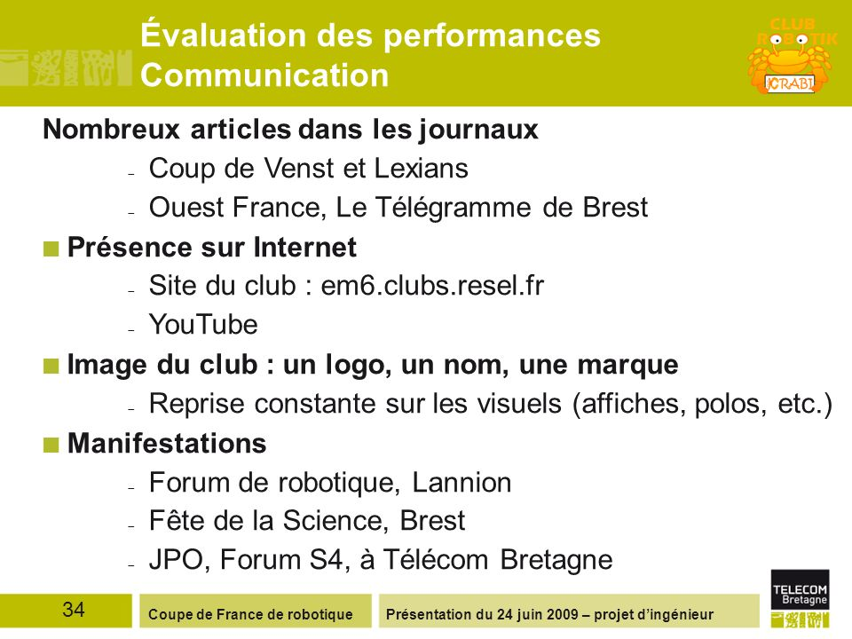 Évaluation des performances Communication