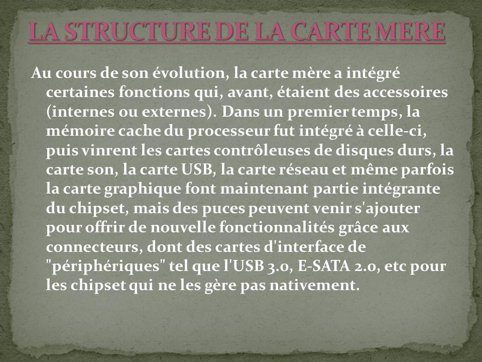 LA STRUCTURE DE LA CARTE MERE