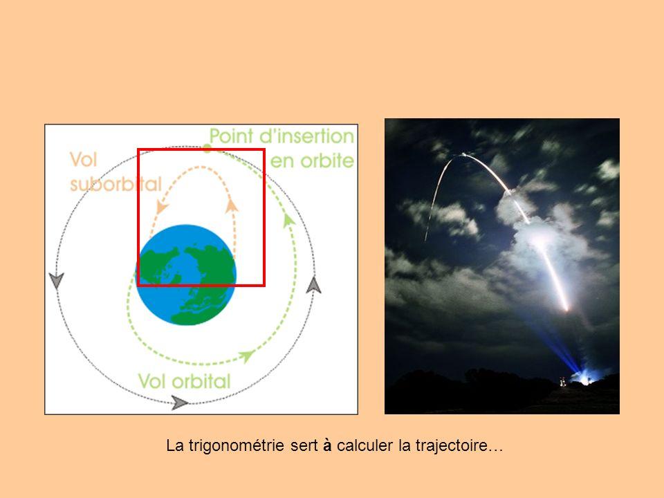 La trigonométrie sert à calculer la trajectoire…