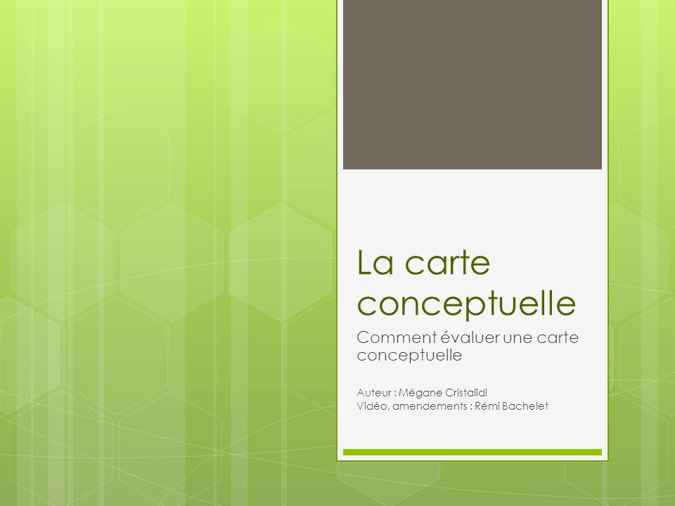 La carte conceptuelle Comment évaluer une carte conceptuelle