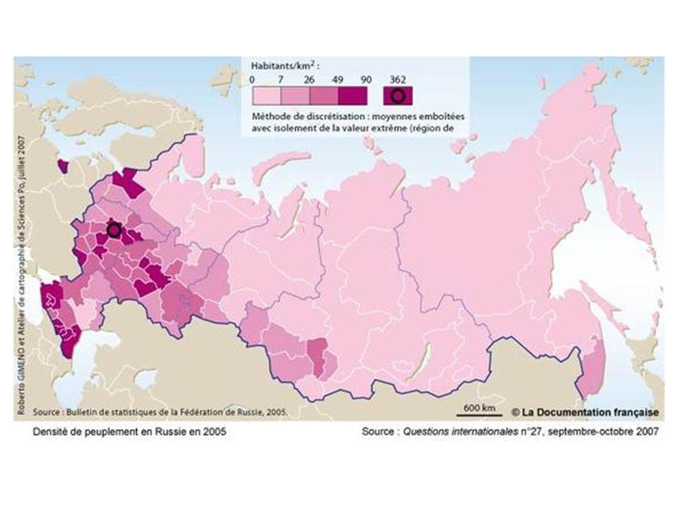 Le passage à une cartographie par moyenne régionale des densités modifient de nombreux aspects de représentation de la répartition de la population :