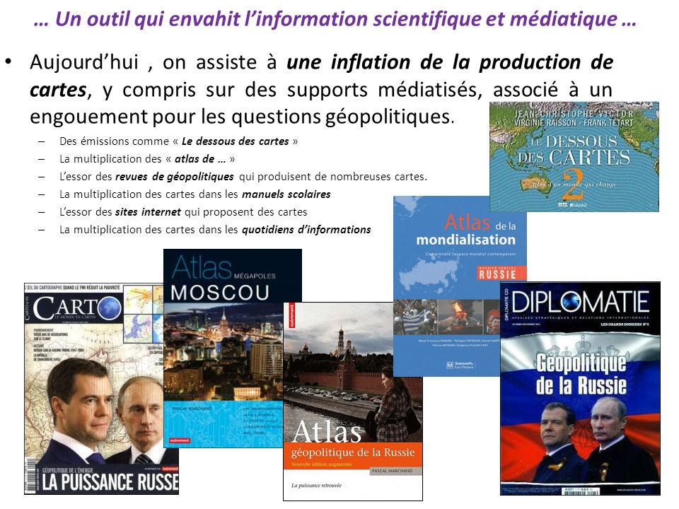 … Un outil qui envahit l'information scientifique et médiatique …