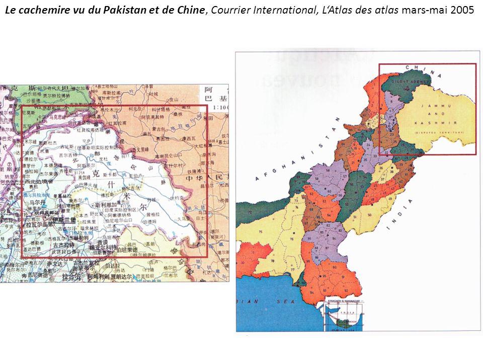 Le cachemire vu du Pakistan et de Chine, Courrier International, L'Atlas des atlas mars-mai 2005