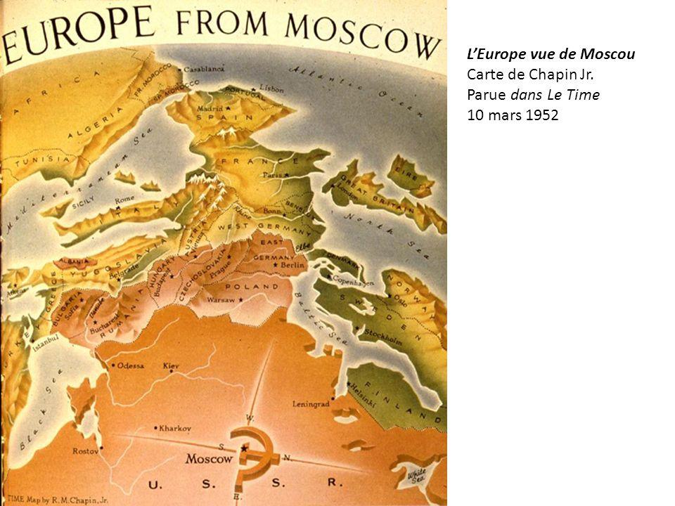 L'Europe vue de Moscou Carte de Chapin Jr. Parue dans Le Time 10 mars 1952
