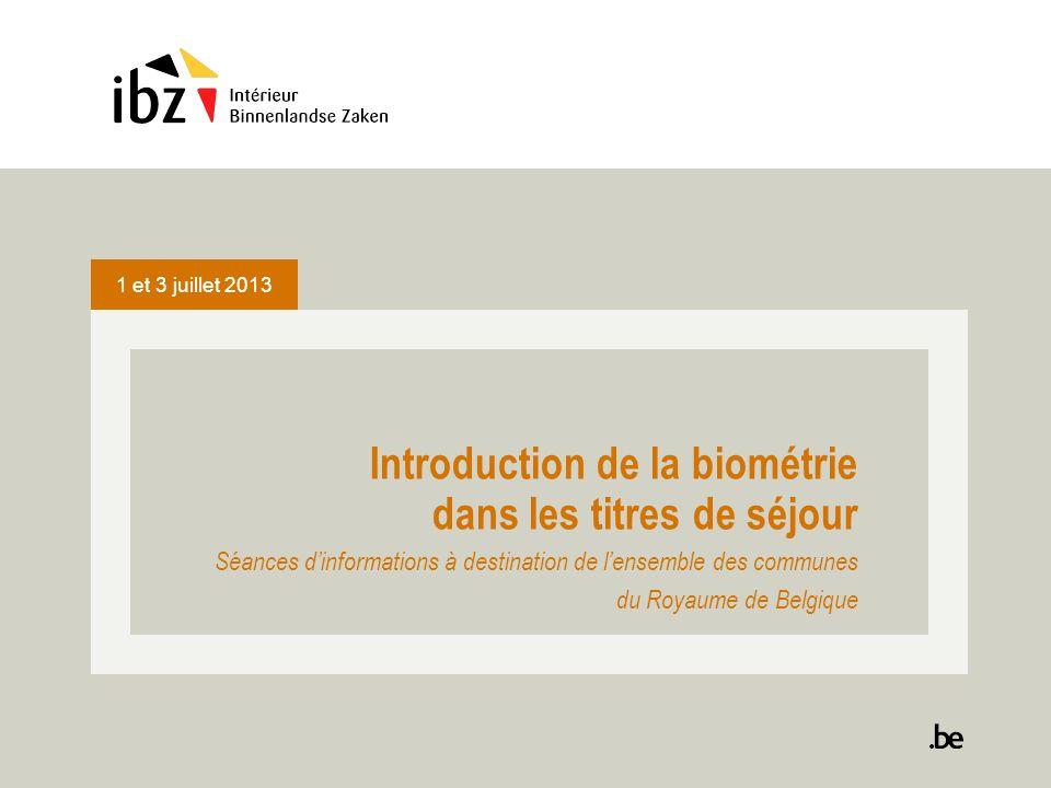 Introduction de la biométrie dans les titres de séjour