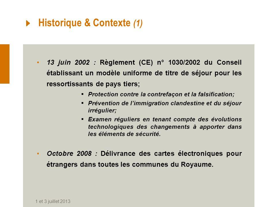 Historique & Contexte (1)