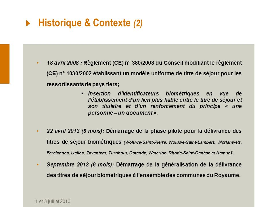 Historique & Contexte (2)