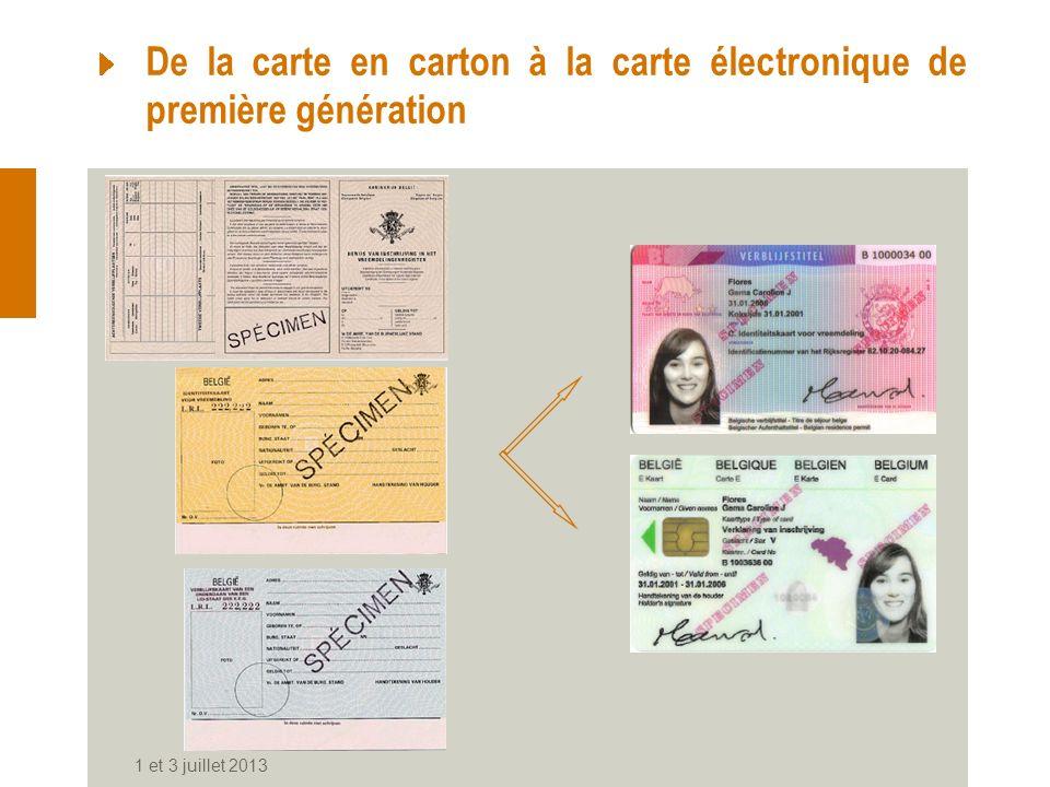 De la carte en carton à la carte électronique de première génération