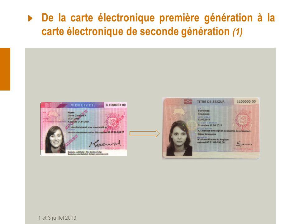 De la carte électronique première génération à la carte électronique de seconde génération (1)