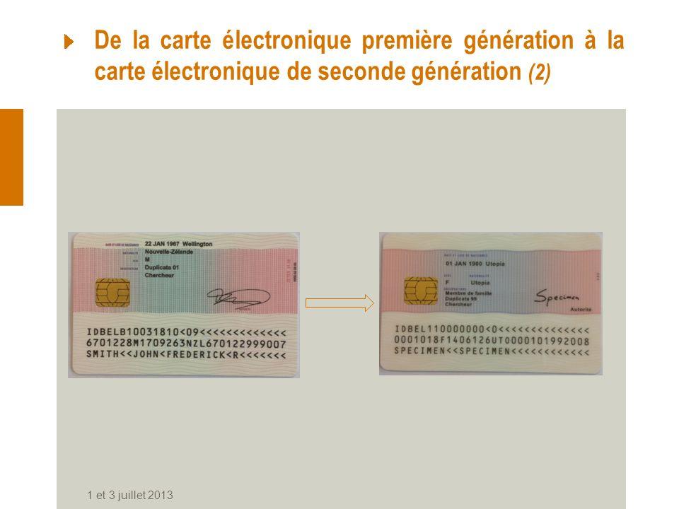 De la carte électronique première génération à la carte électronique de seconde génération (2)