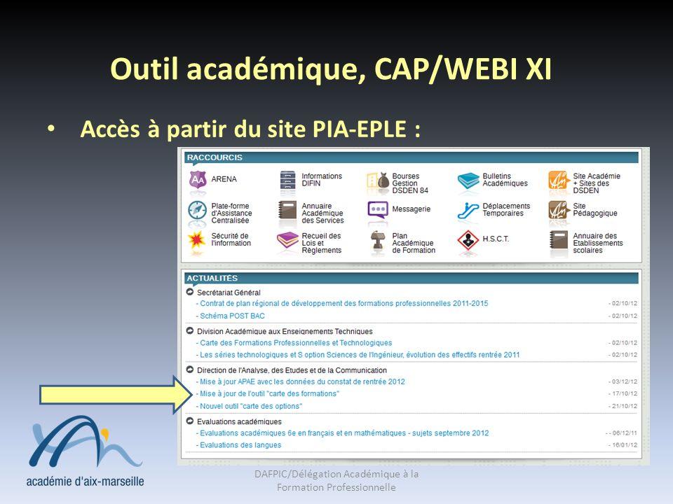Outil académique, CAP/WEBI XI