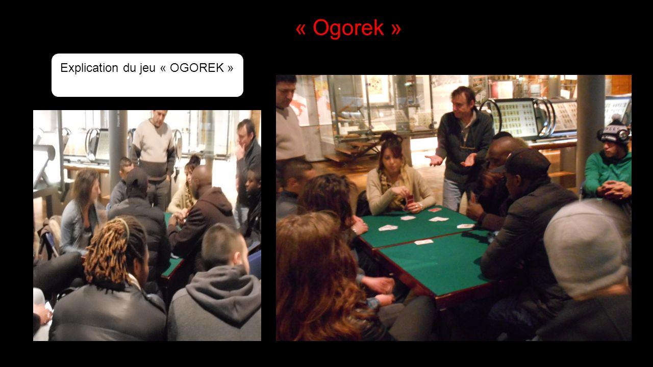 Explication du jeu « OGOREK »