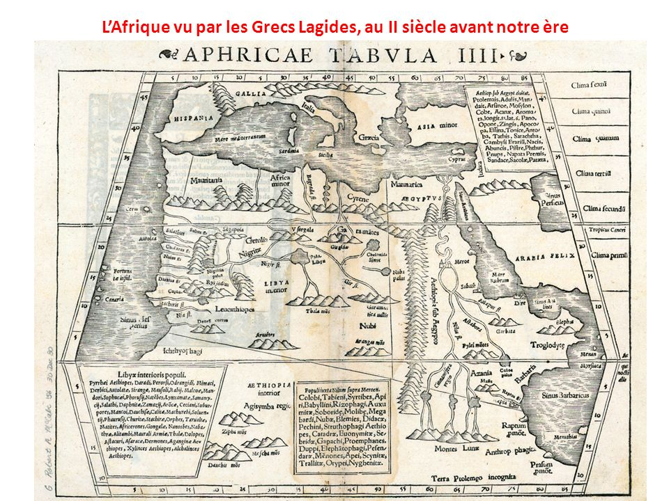 L'Afrique vu par les Grecs Lagides, au II siècle avant notre ère