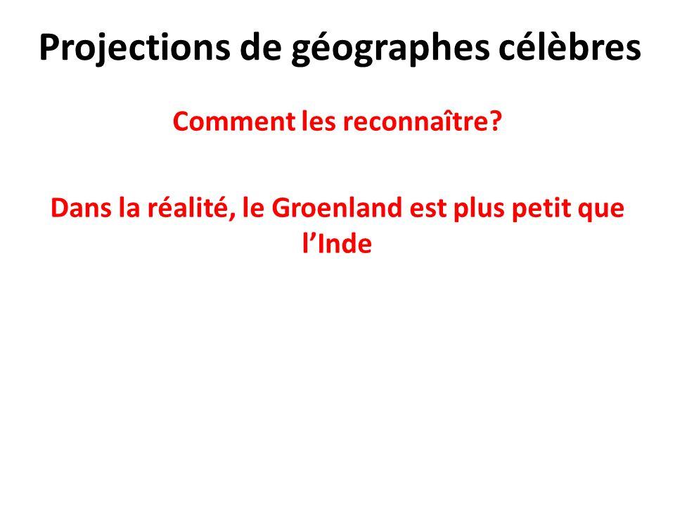 Projections de géographes célèbres