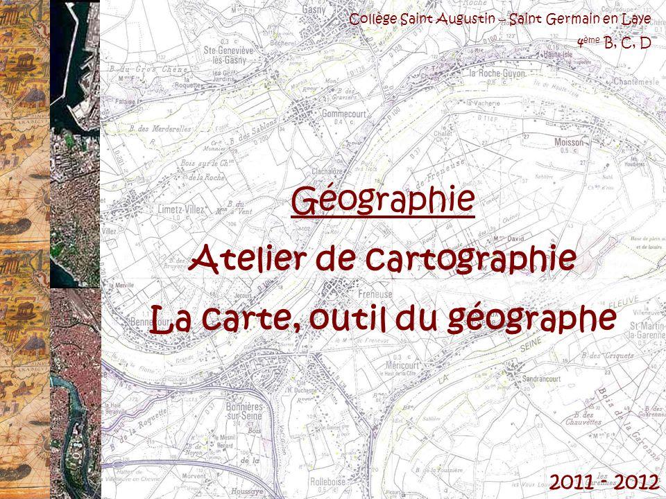 Atelier de cartographie La carte, outil du géographe
