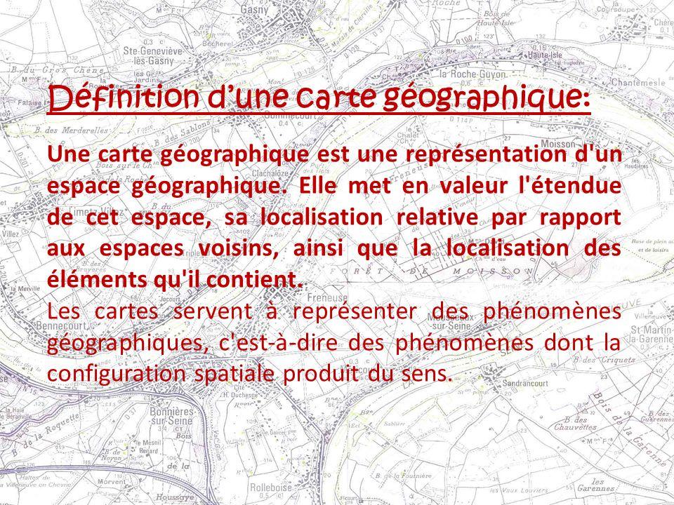 Définition d'une carte géographique: