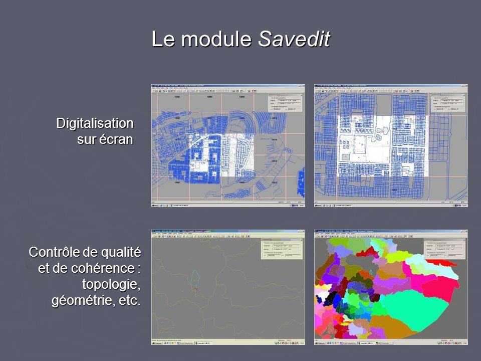 Le module Savedit Digitalisation sur écran