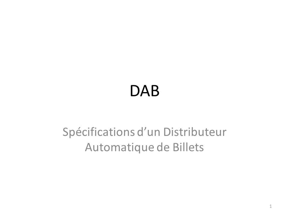 Spécifications d'un Distributeur Automatique de Billets