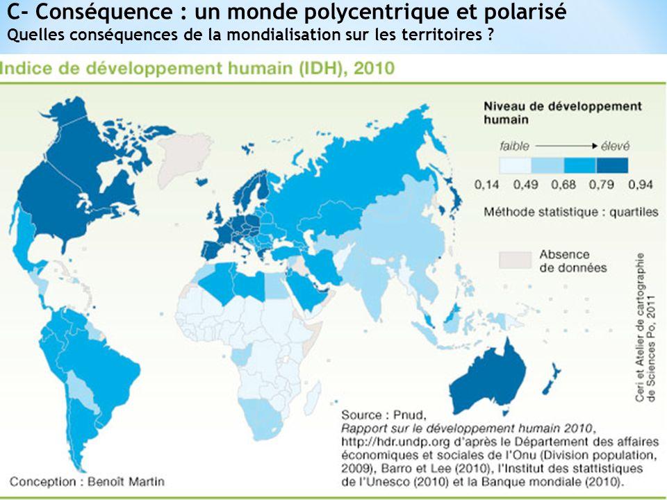 C- Conséquence : un monde polycentrique et polarisé