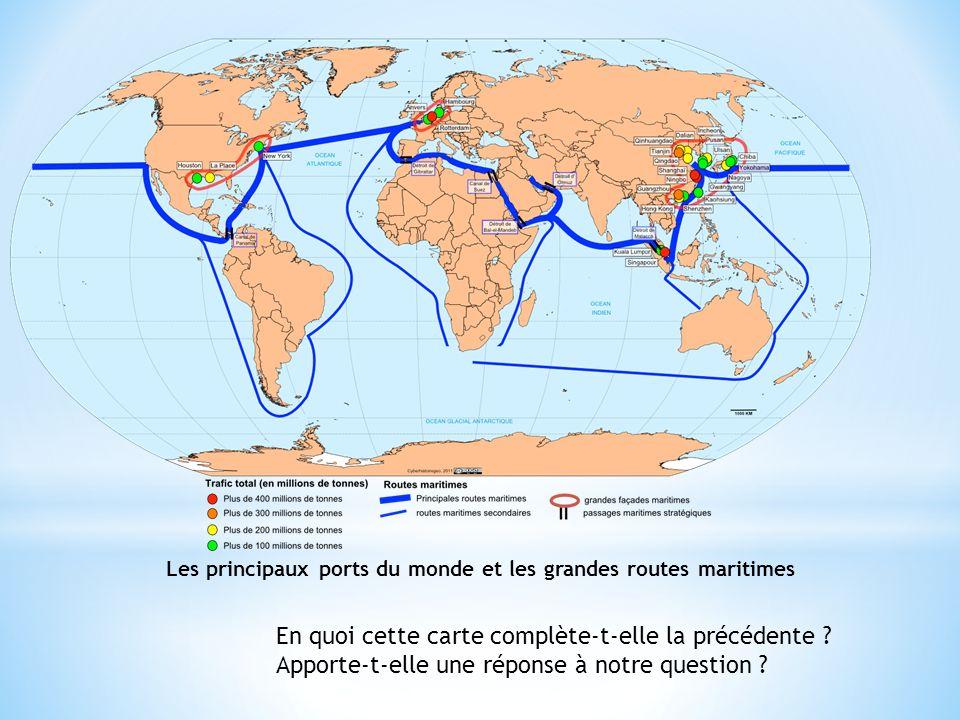 Les principaux ports du monde et les grandes routes maritimes