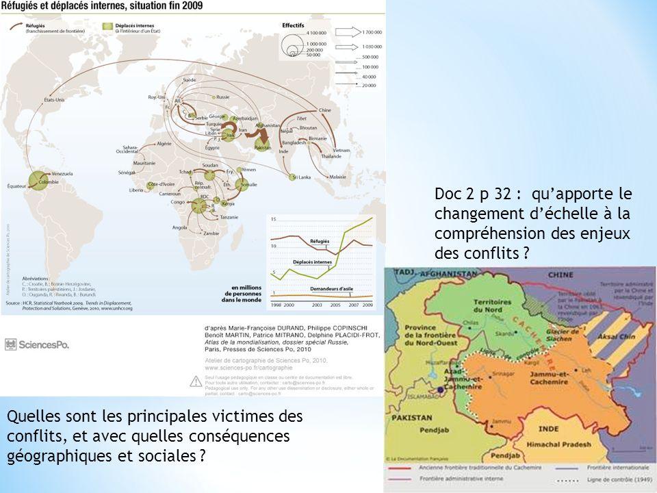 Doc 2 p 32 : qu'apporte le changement d'échelle à la compréhension des enjeux des conflits