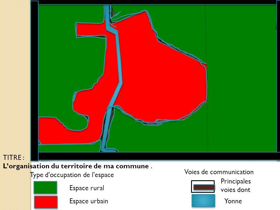 TITRE : L'organisation du territoire de ma commune . Voies de communication. Type d'occupation de l'espace.